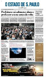 Capa O Estado de São Paulo - Sábado, 26 de setembro de 2020