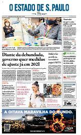 Capa O Estado de São Paulo - Quinta, 13 de agosto de 2020