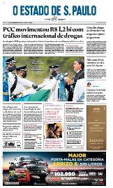 Capa O Estado de São Paulo - Sábado, 24 de outubro de 2020