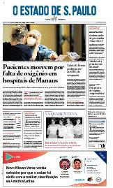 Capa O Estado de São Paulo - Sexta, 15 de janeiro de 2021