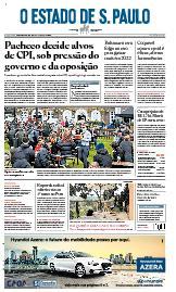 Capa O Estado de São Paulo - Quarta, 14 de abril de 2021