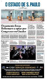 Capa O Estado de São Paulo - Quinta, 15 de abril de 2021