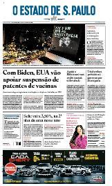 Capa O Estado de São Paulo - Quinta, 06 de maio de 2021