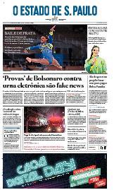 Capa O Estado de São Paulo - Sexta, 30 de julho de 2021