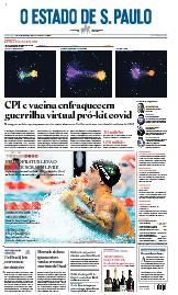 Capa O Estado de São Paulo - Domingo, 01 de agosto de 2021