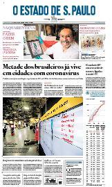 Capa O Estado de São Paulo - Quarta, 01 de abril de 2020