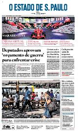Capa O Estado de São Paulo - Sábado, 04 de abril de 2020