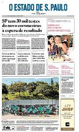Capa O Estado de São Paulo - Sexta, 10 de abril de 2020