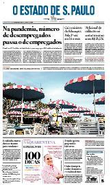 Capa O Estado de São Paulo - Quinta, 02 de julho de 2020