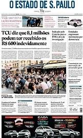 Capa O Estado de São Paulo - Quarta, 03 de junho de 2020