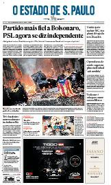 Capa O Estado de São Paulo - Sábado, 19 de outubro de 2019