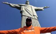 Atletas olímpicos aos pés do Cristo