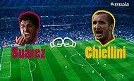 Champions League: 2º round entre Suárez e Chiellini
