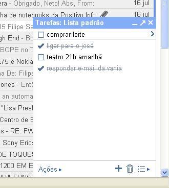 Google Tarefas no Gmail