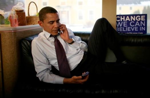 """Na campanha, um Obama """"distraído"""". Fonte: NYT"""
