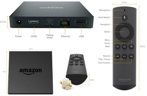 Controle da Amazon lançado com a FireTV