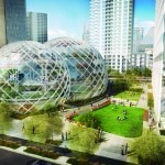 page 8 - CAPTION - In 2013, Amazon proposed radical designs for a new headquarters in downtown Seattle. CREDIT - NBBJ
