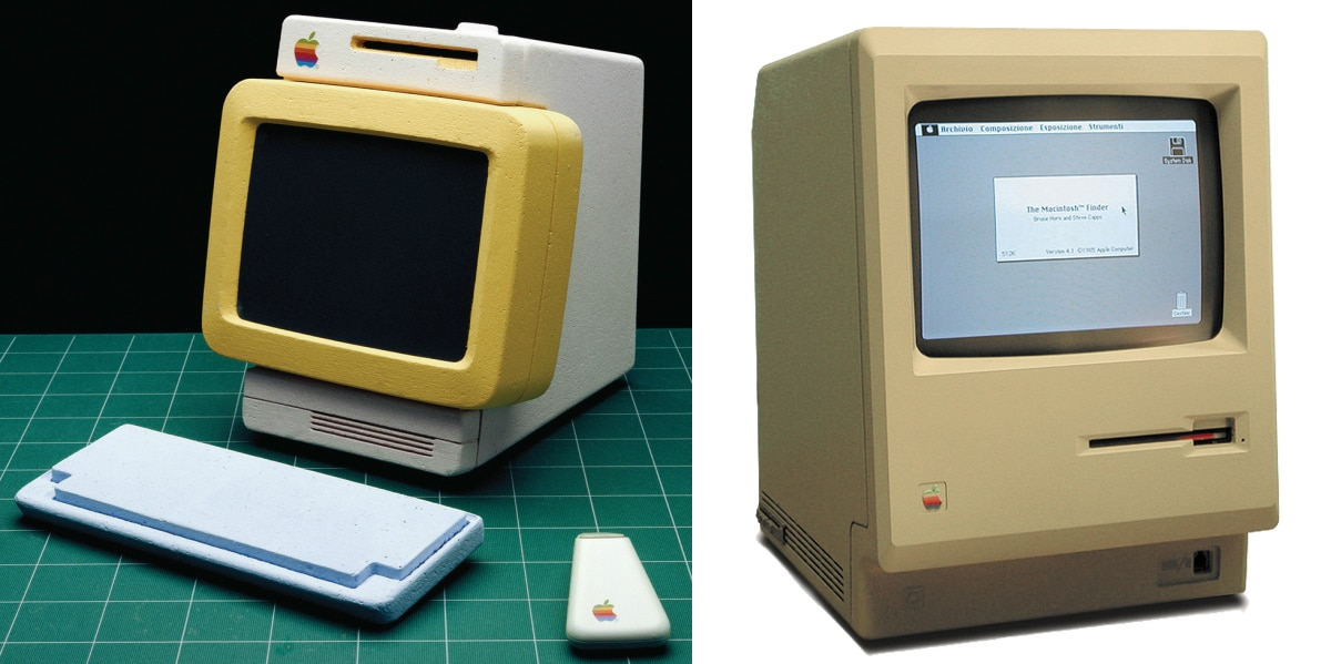 prototipos da apple, na foto um mac nos anos 1980