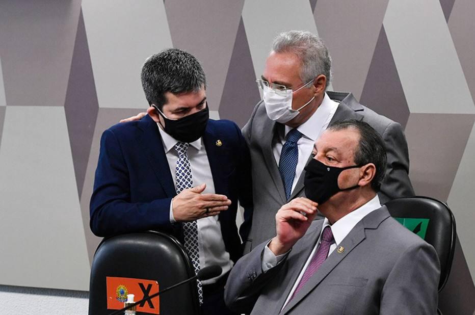 Omar Aziz, Randolfe e Renan Calheiros