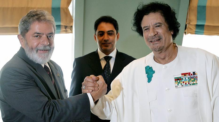 Kadafi e Lula