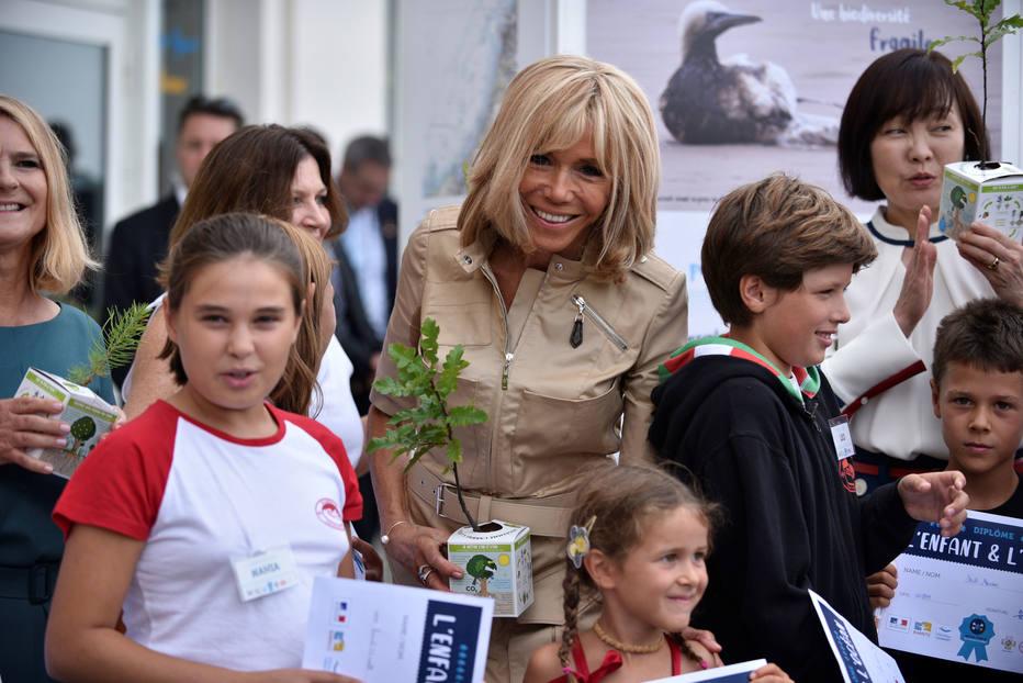 Brigitte Macron no G-7