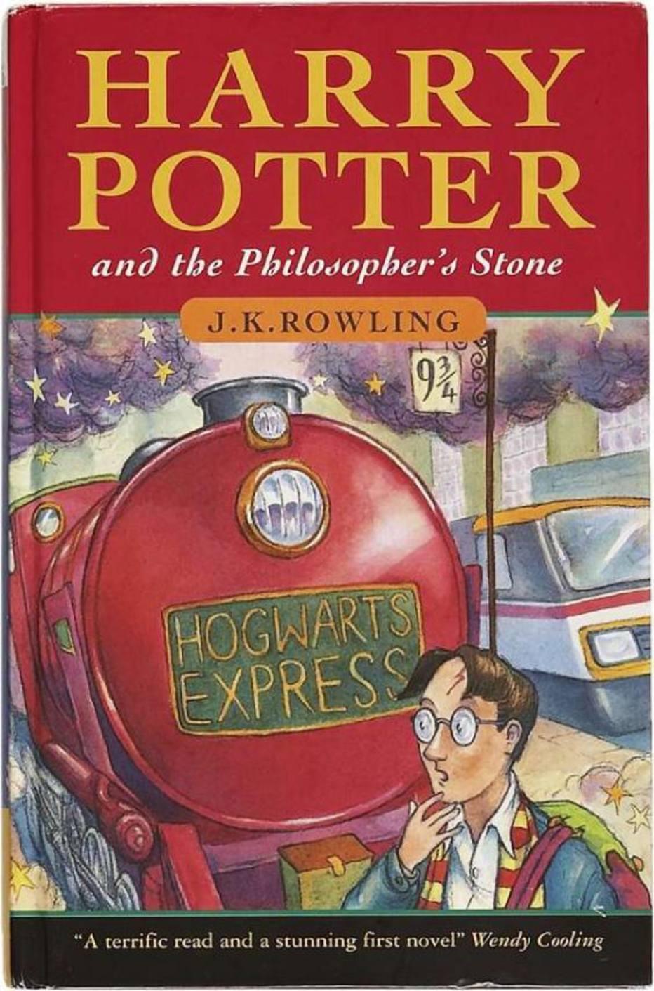 Exemplar da primeira edição de 'Harry Potter e a Pedra
