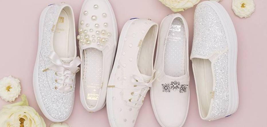 Glitter, pedrarias e pérolas, clássicos dos looks de noiva, aparecem nos calçados