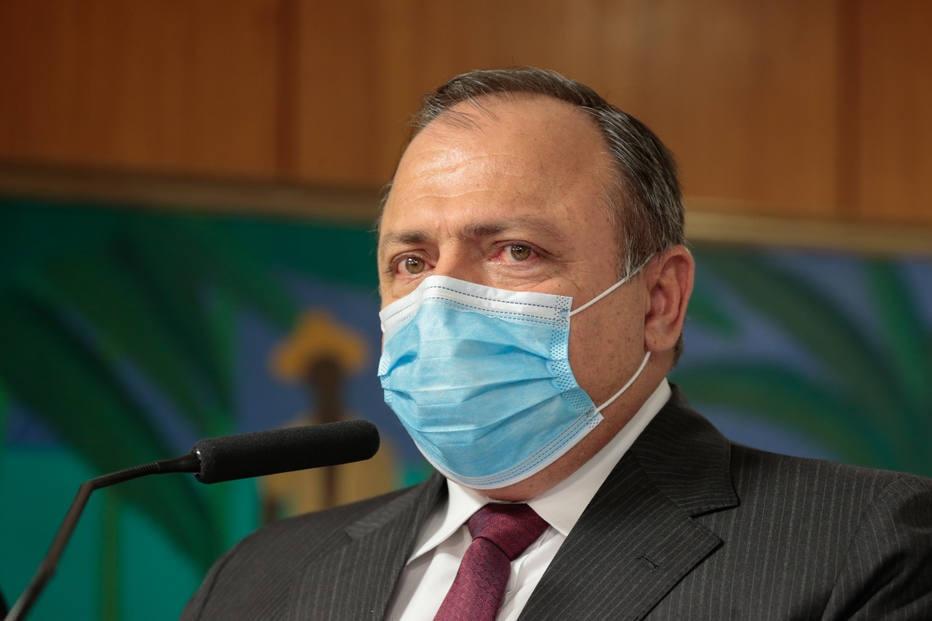 O Ministro interino da Saúde Eduardo Pazuello