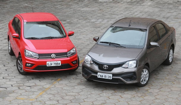 Comparativo: VW Voyage AT x Toyota Etios X AT