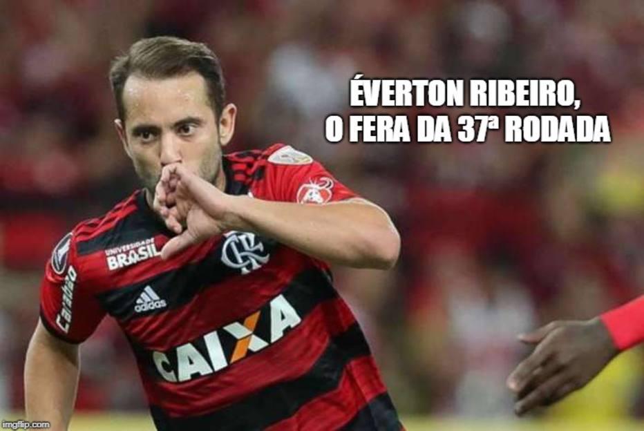 Jogador comandou a vitória do Flamengo contra o Cruzeiro no último domingo 82b3d17e2b0ad