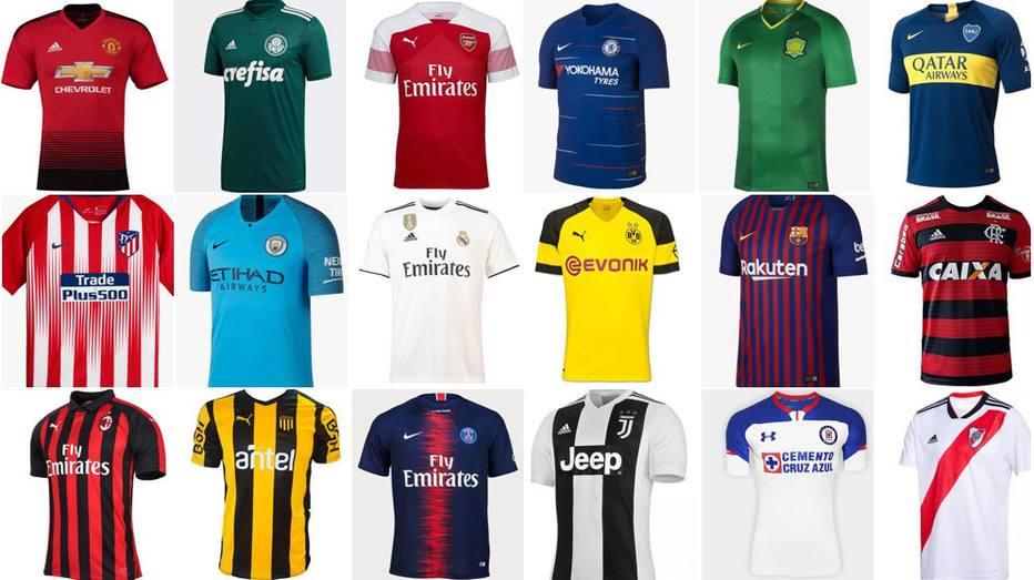 1º é brasileiro! Torcedores elegem as 20 camisas mais bonitas do mundo 8f075b3f4cb14