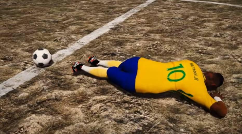 c904a18898 Piada sem fim  Neymar vira personagem que só cai no famoso jogo GTA ...