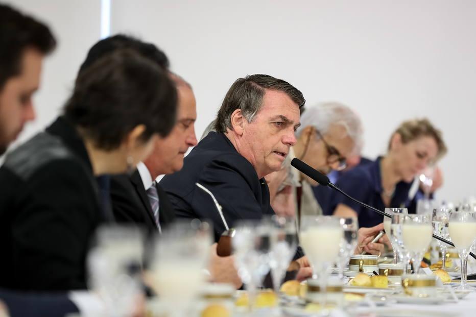 Bolsonaro com imprensa estrangeira