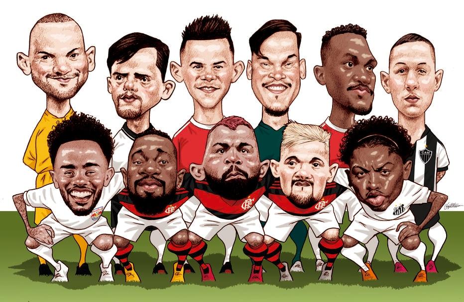 Pesquisa Estadão aponta os 11 eleitos para a seleção da temporada 2020 do futebol brasileiro
