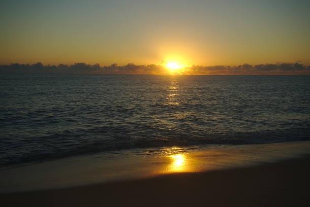 Nascer do Sol na Ponta de Corumbau
