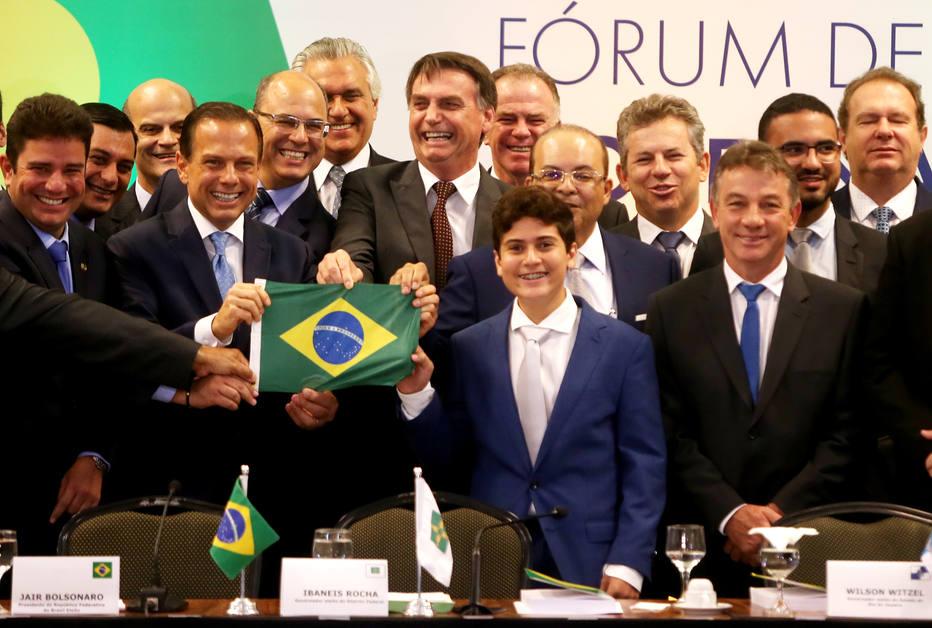 Bolsonaro e governadores
