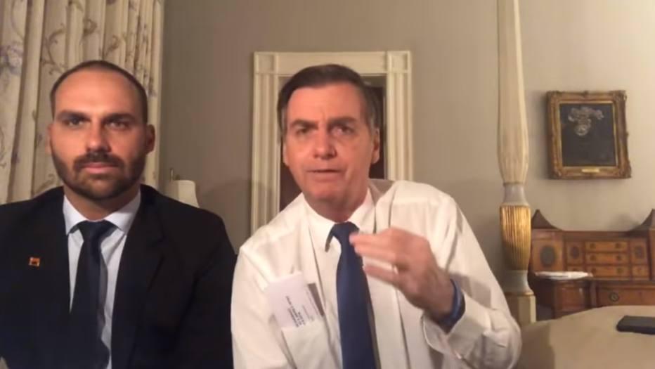 Jair Bolsonaro e Eduardo Bolsonaro