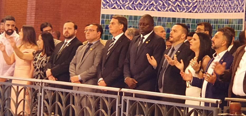 Jair Bolsonaro no Santuário Nacional de Aparecida