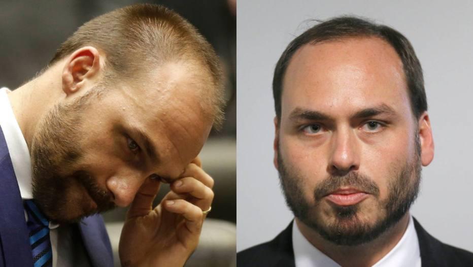Eduardo e Carlos Bolsonaro