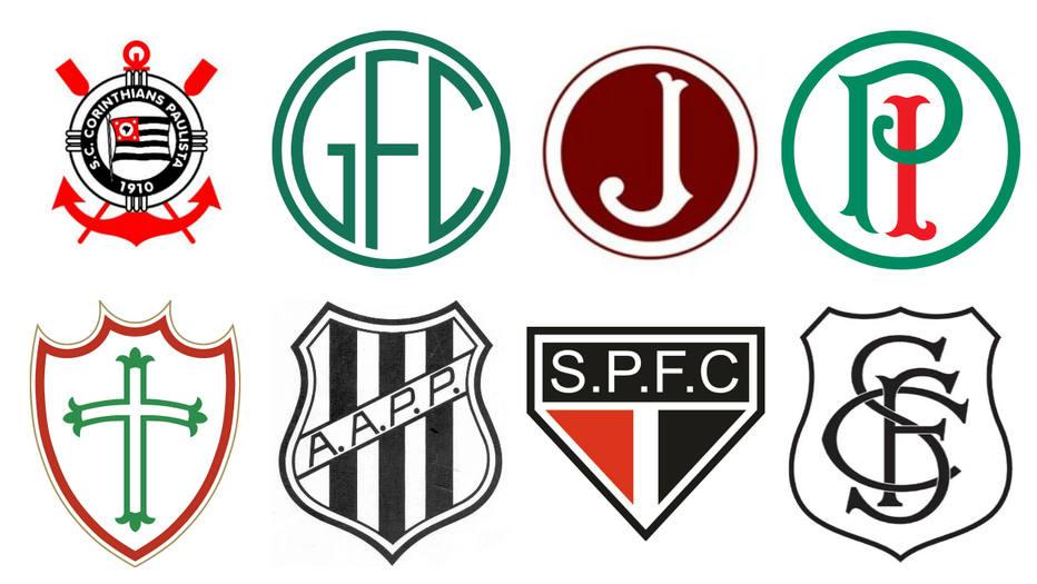 f1350922ed3f5 Confira a evolução dos escudos dos principais clubes de São Paulo