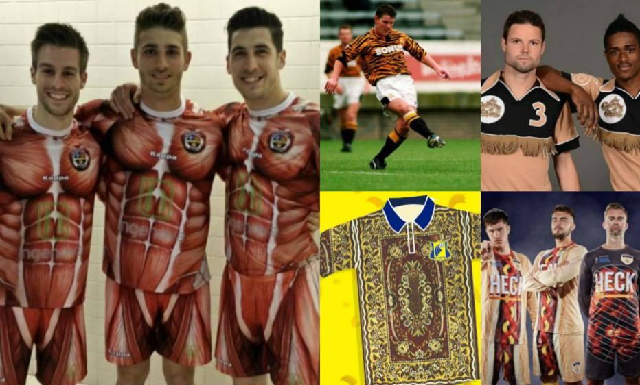 1268a598ae456 De hot-dog a Salvador Dalí  as piores camisas da história do futebol mundial
