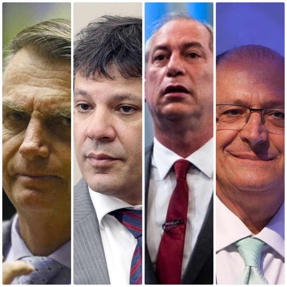 Bolsonaro, Haddad, Ciro, Alckmin