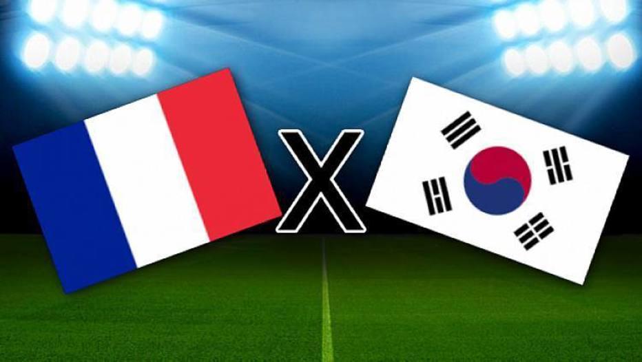França x Coreia do Sul: onde assistir ao vivo