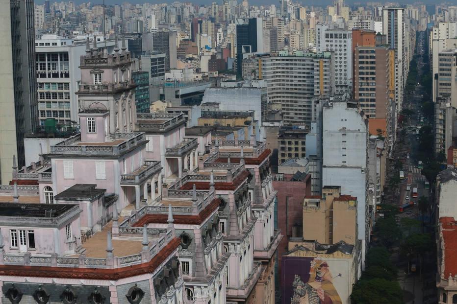 Edifício Martinelli na cidade de São Paulo
