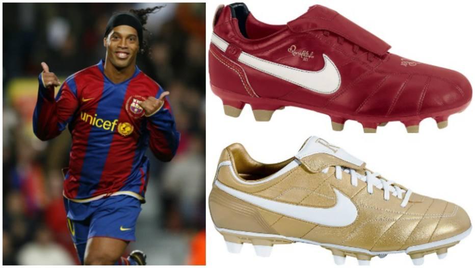 99f1682ded Relembre as 5 chuteiras mais marcantes da carreira de Ronaldinho