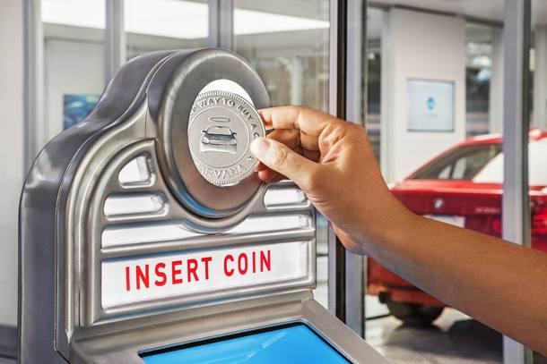 Máquina de venda de carros usados nos EUA