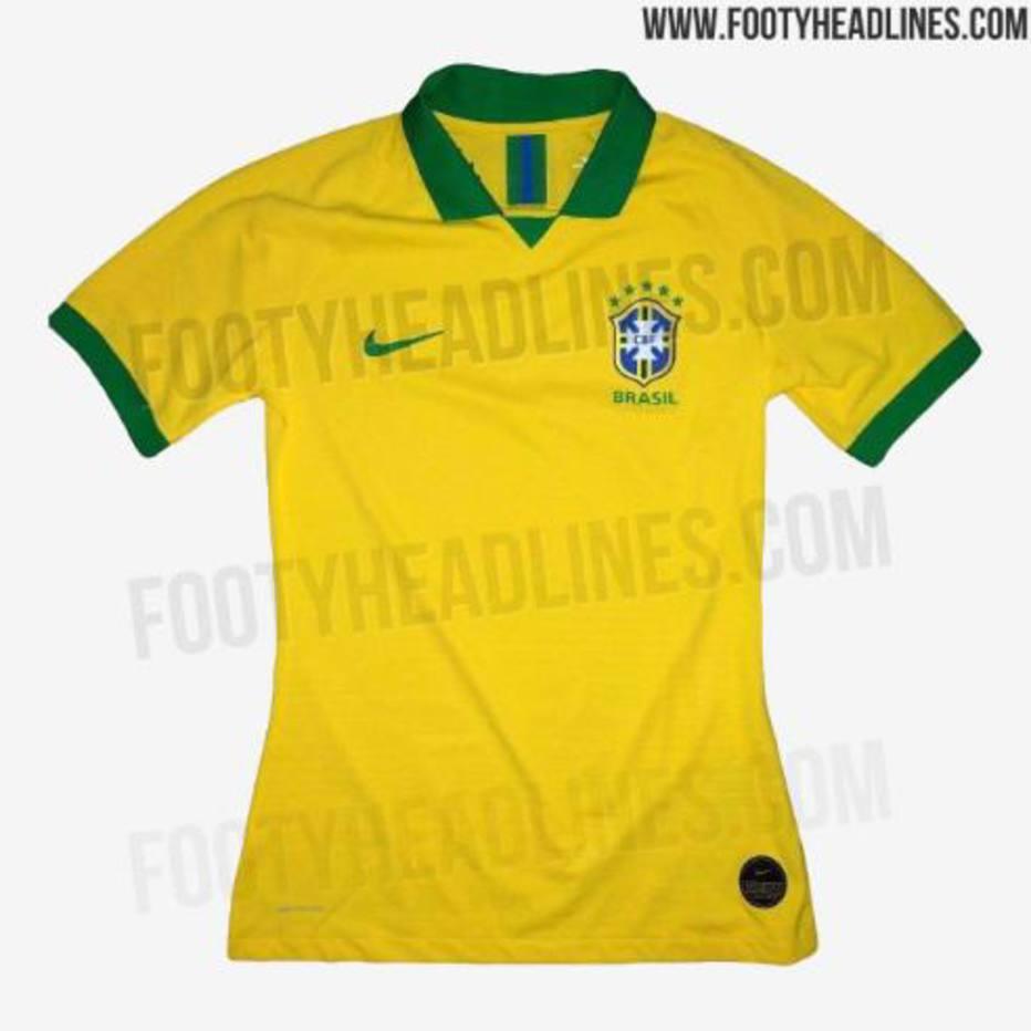Site vaza suposta nova camisa da seleção brasileira para a Copa ... dad735030e295
