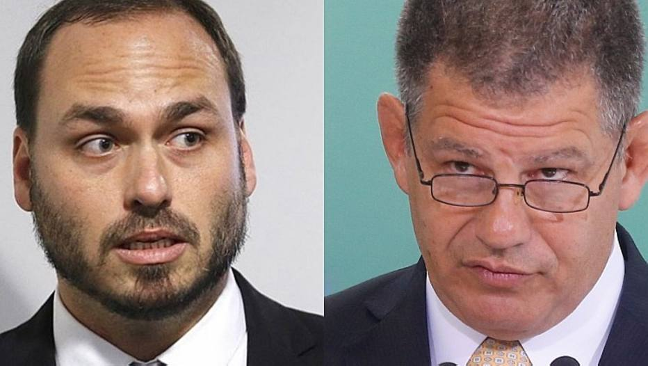 Carlos Bolsonaro e Gustavo Bebianno