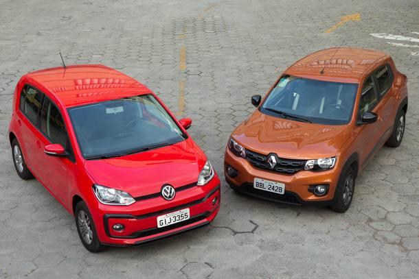 Comparativo: Renault Kwid x Volkswagen Up