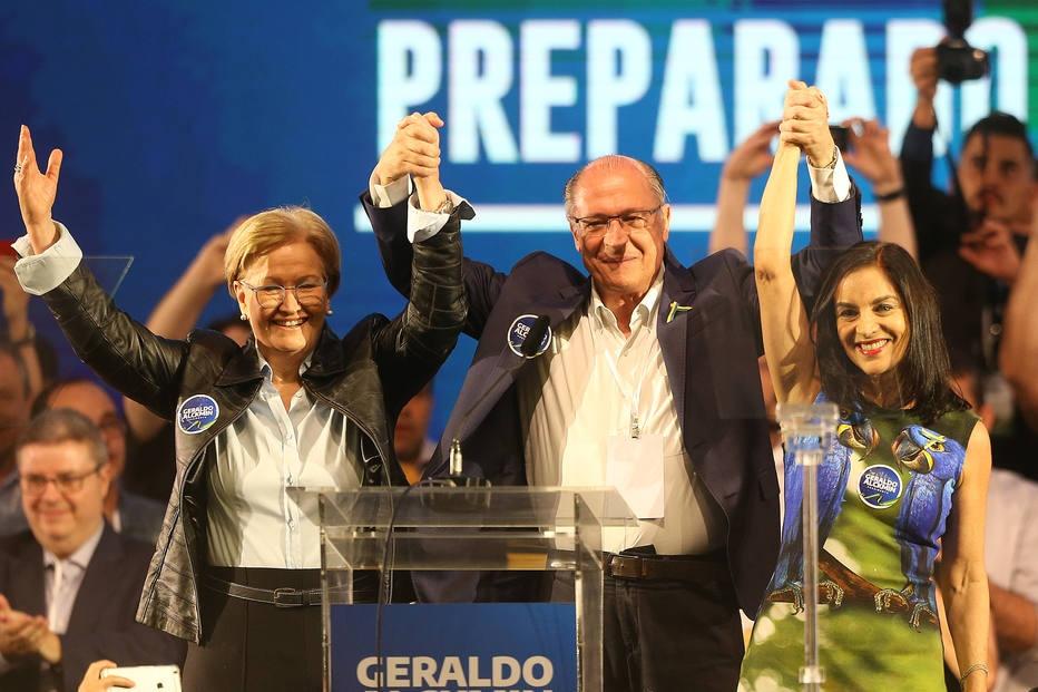 Convenção do PSDB que oficializou a chapa Alckmin e Ana Amélia